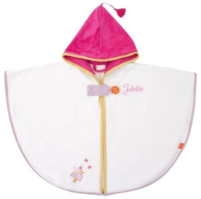 Personalized Ladybug Hooded Bath Towel Ecru - PetitePeople