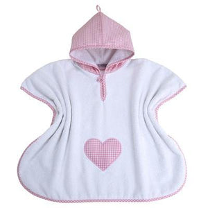 Personalised Bath Poncho (Pink Gingham) - PetitePeople, Poncho[product_tag]