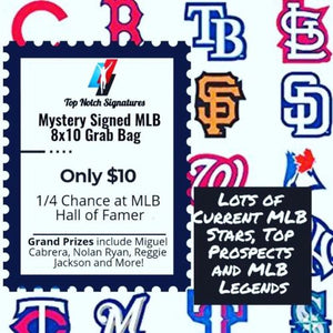 (1) Top Notch Signatures Mystery Signed MLB Baseball 8x10 Photo HOF Etc. - Top Notch Signatures LLC