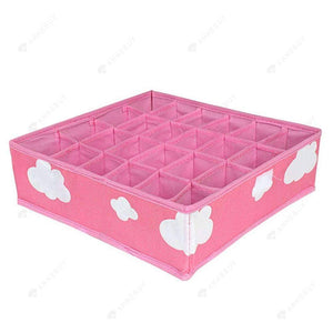 Drill Storage Box-3 in 1 Pink Grid Pattern Fashion Drill Storage Box
