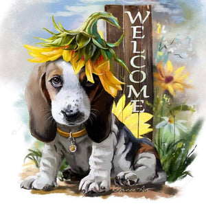 Diamond Painting-Partial Round Drill Cute Dog