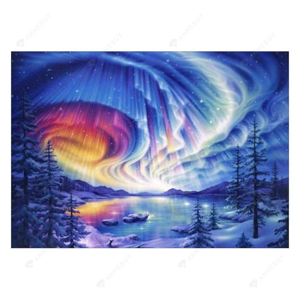 Diamond Painting-Partial Drill Aurora