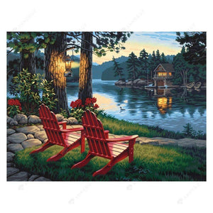 Diamond Painting-5D Full Round Drill Lakeside