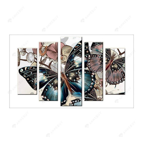 Diamond Painting-5D Full Round Drill Butterfly