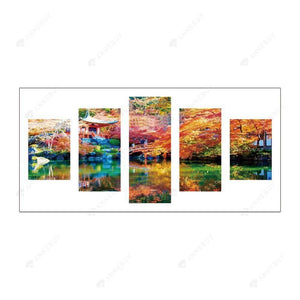 Diamond Painting-5D Full Round Drill 5pcs Scenery