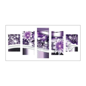 Diamond Painting-5D Full Drill Flower 5pcs