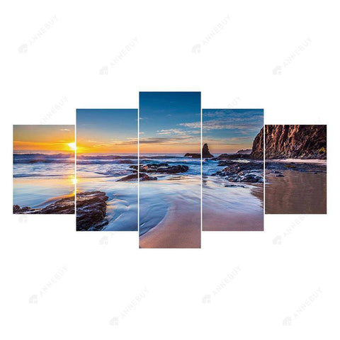 Diamond Painting-5D Full Round Drill 5pcs Sunset
