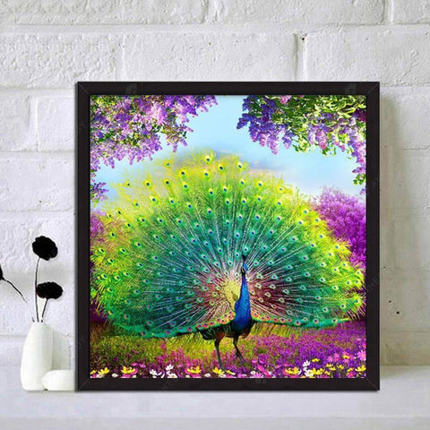 5D Full Drill-Peafowl Animal Cross Stitch Embroidery