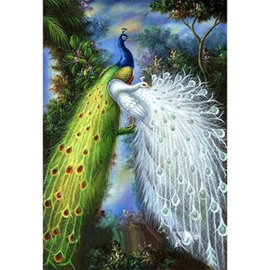 Diamond Painting-5D Full Round Drill Novelty Peafowl Peacock
