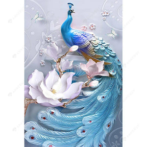 Diamond Painting-5D Full Round Drill Fantasy Peafowl