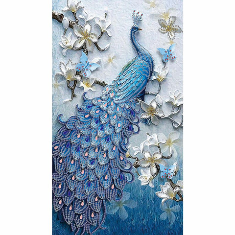Diamond Painting-DIY Crystal Rhinestone Peacock