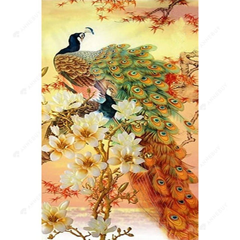 Diamond Painting-5D DIY Full Square Drill Peafowl