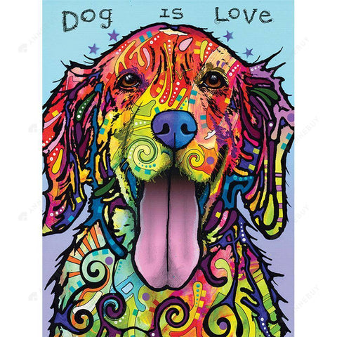 Diamond Painting-DIY Full Round Drill Colorful Dog