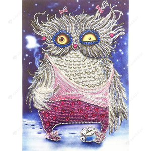Diamond Painting-DIY Partial Crystal Rhinestones Night Owl