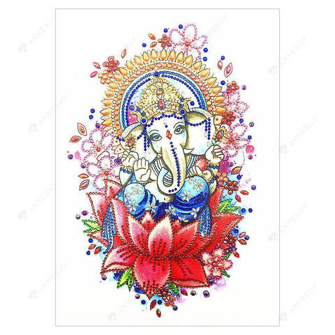 Diamond Painting-DIY Partial Crystal Rhinestones Elephant Trunk Buddha