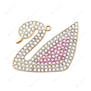 DIY Diamond Painting Keychain/Necklace-Full Round Drill Swan