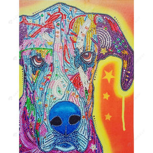 Diamond Painting-DIY Partial Crystal Rhinestones Dog