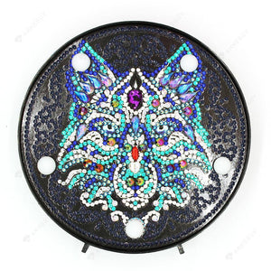 DIY Diamond Painting LED Lamp Crystal Rhinestone Wolf Room Decor