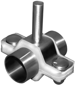 "2 1/2"" Tube Process Hexagon Steel Tubing Hanger, Rod Mount Assembly, 6"" Long 1/2"" OD Rod, 304, Part Number - PHH24-6R4-T250A"