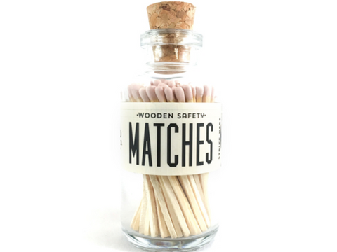 Vintage Apothecary Matches Mini - Light Pink