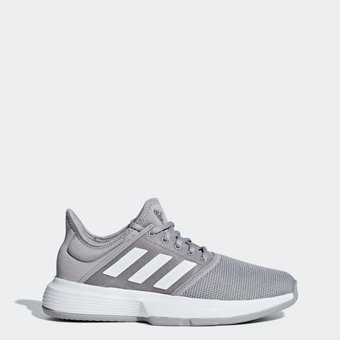 adidas GameCourt Women's Tennis Shoe (Granite/White)