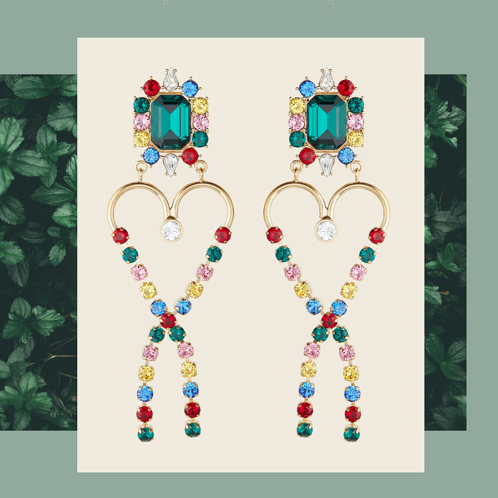 safsafu infinite love earrings
