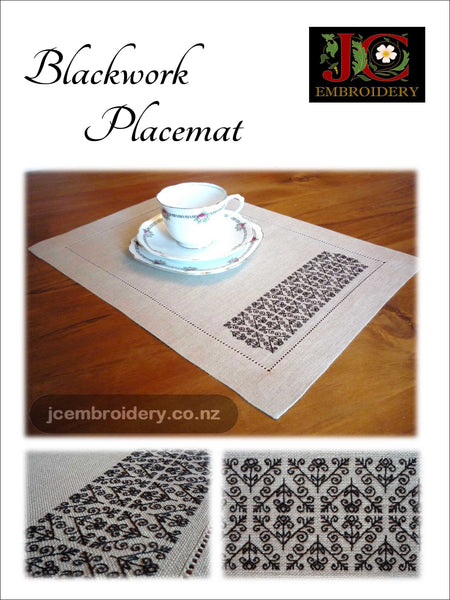 Blackwork / Holbien Placemat - #4 in Placemat Series