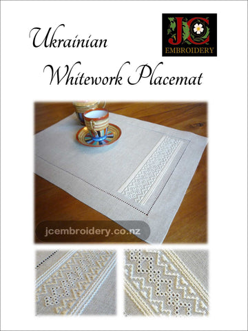 Ukrainian Whitework Placemat - #5 in Placemat Series