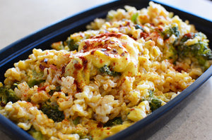 Brown Rice & Broccoli Cheezy Bake
