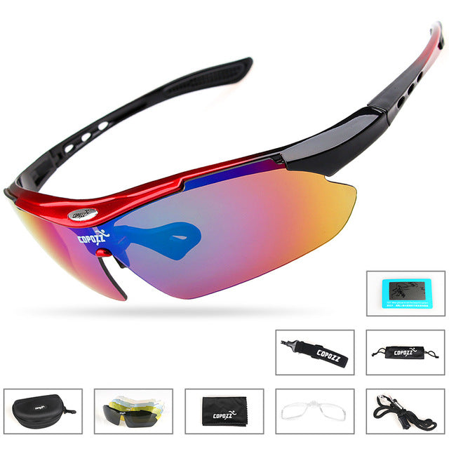 Brand Polarized Sports Sunglasses Myopia 5 Lens