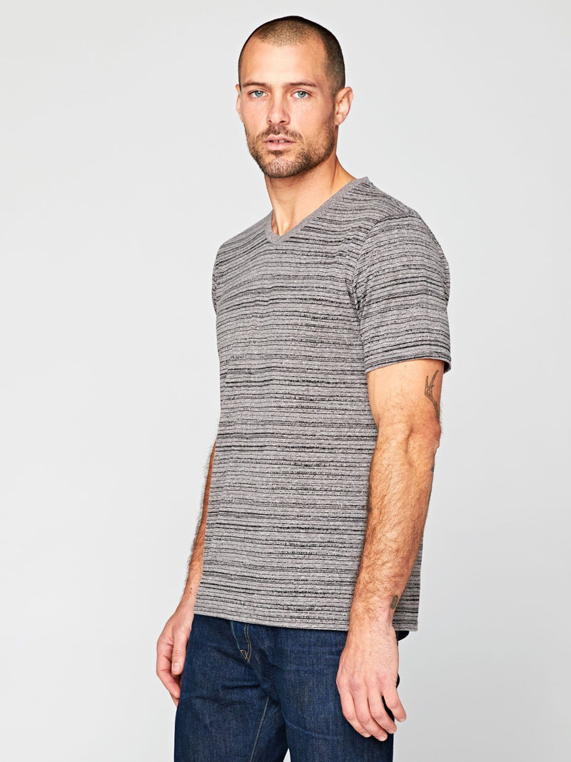 Dirt Road Stripe V-Neck