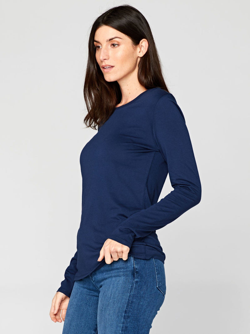 Leigh Long Sleeve Scoop Neck