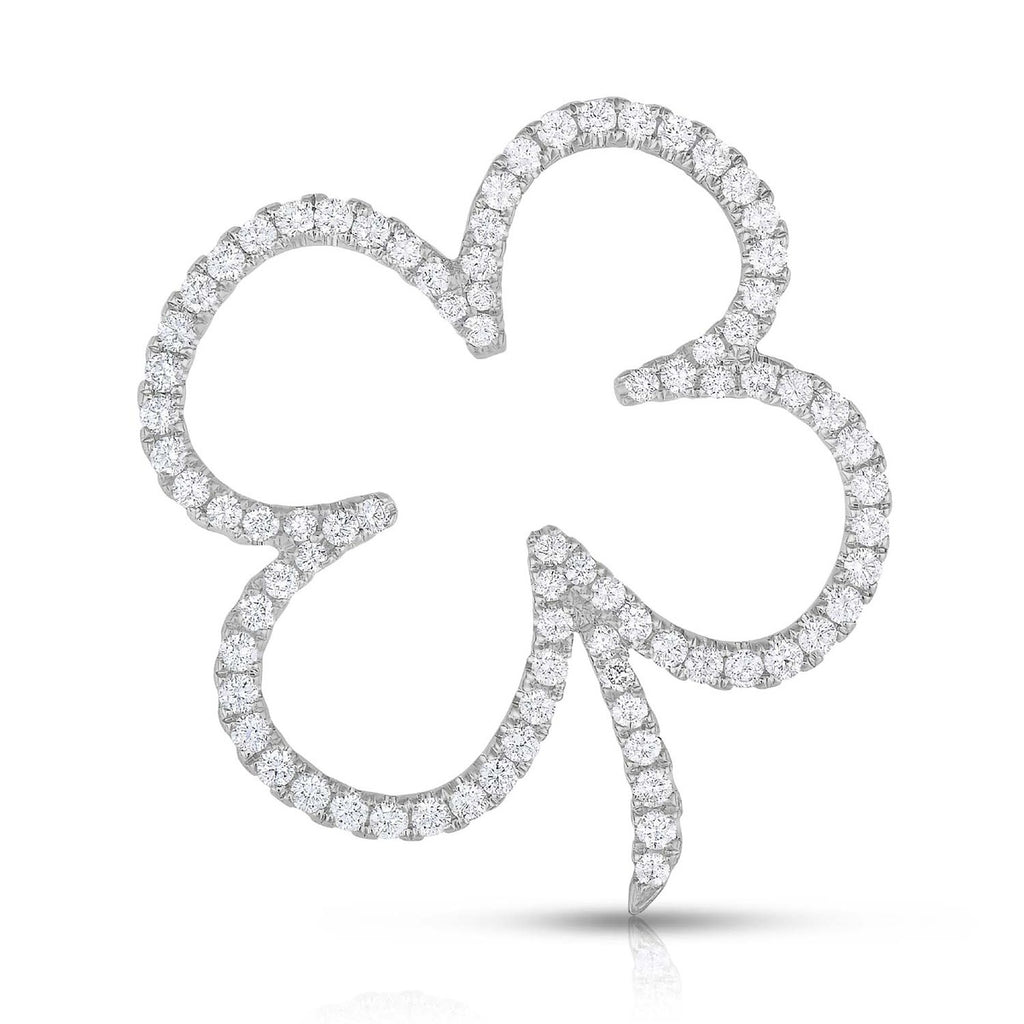 kosmos four leaf clover white gold and diamond pendant