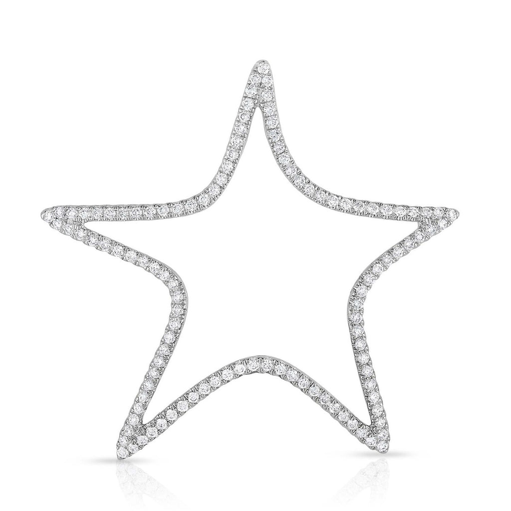 kosmos star white gold and diamond pendant