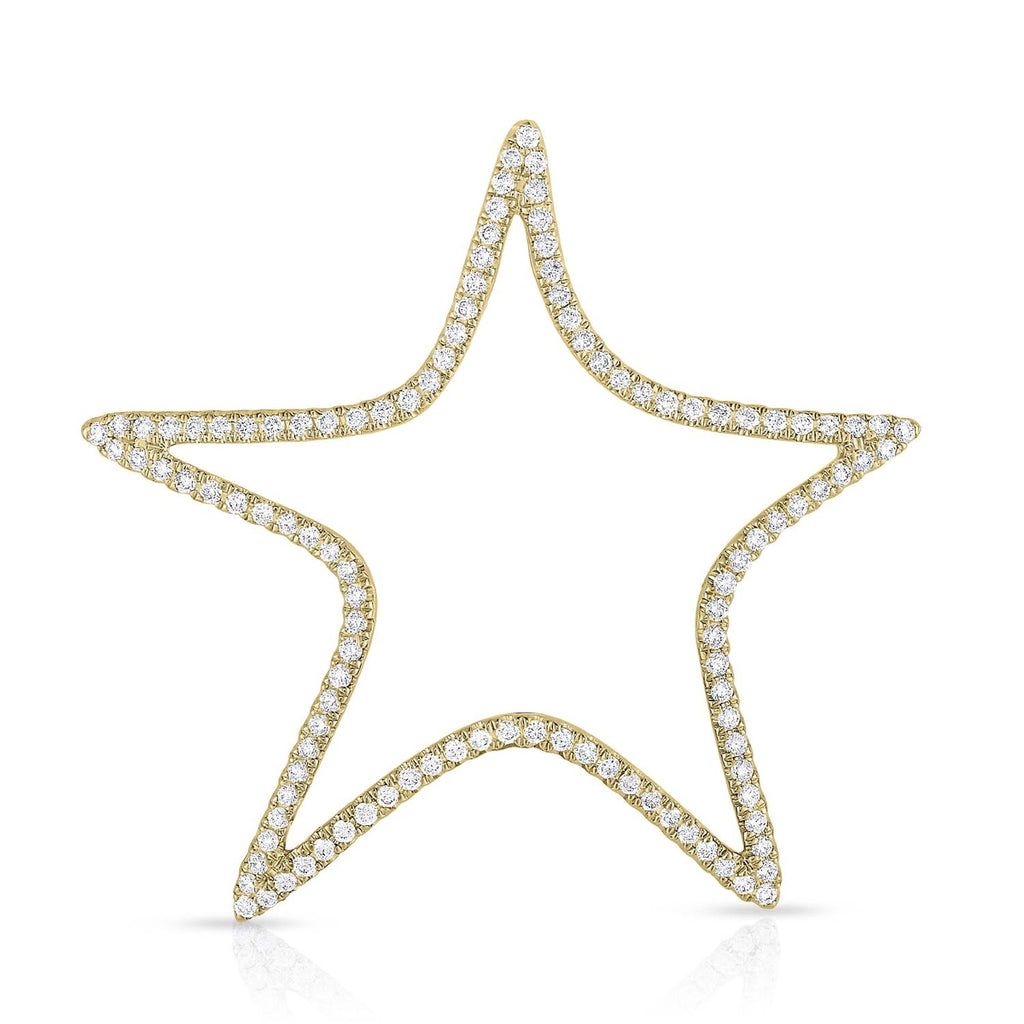 kosmos star yellow gold and diamond pendant
