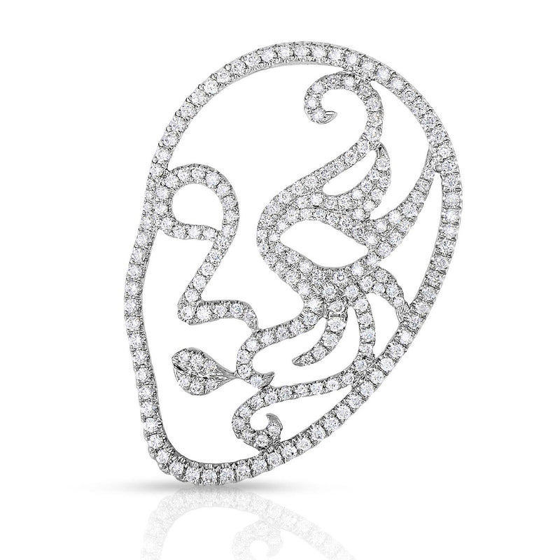 kosmos venetian mask white gold and diamond pendant