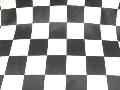 Checkered Dull Satin 3 INCH BLACK