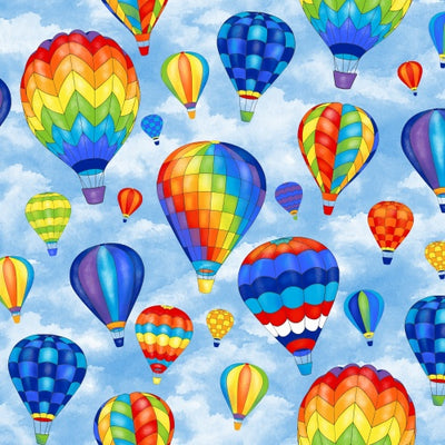 Premium Anti-Pill Hot Air Balloons Fleece 732
