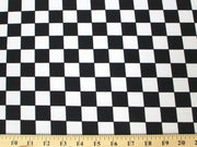Checkered Dull Satin SMALL BLACK WHITE