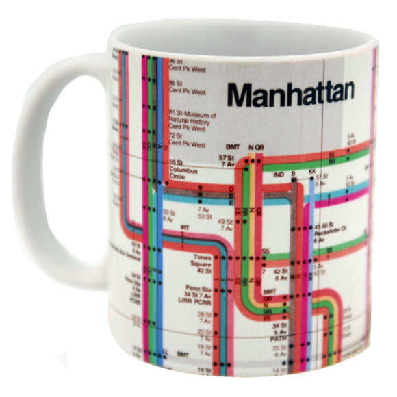 Vignelli Map 1972 (Detail) Mug