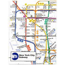 Subway Map - White Magnet