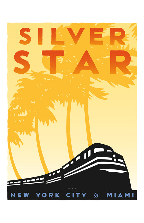 Silver Star (NYC to Miami) Print