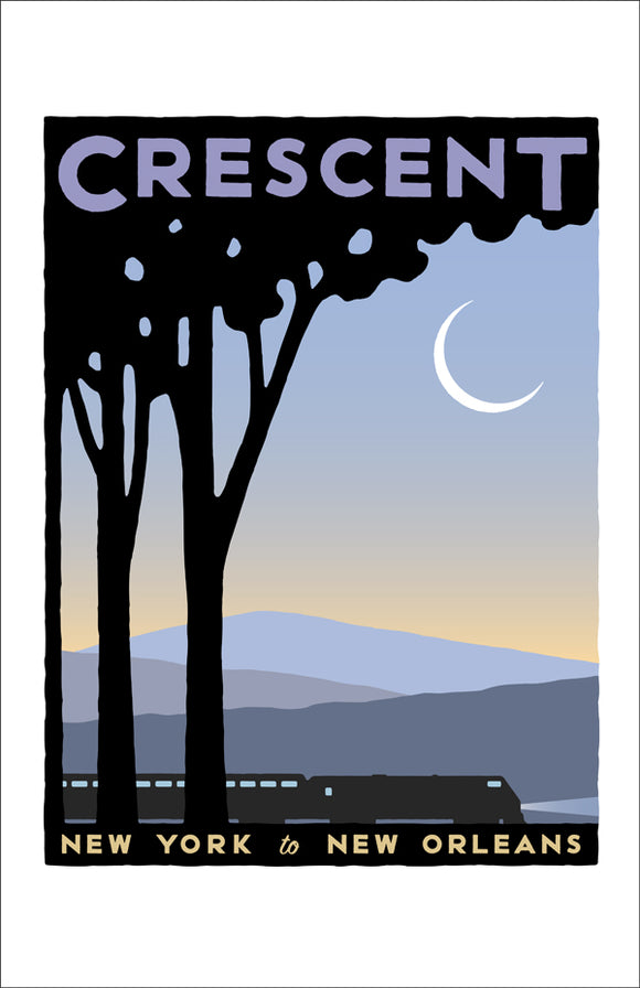 Crescent (NYC to New Orleans) Print
