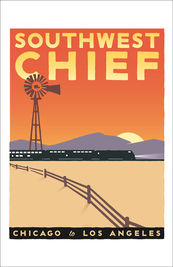 Southwest Chief (Chicago to LA) Print