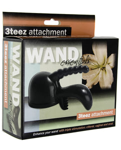 Wand Essentials 3 Teez Wand Attch. - Black