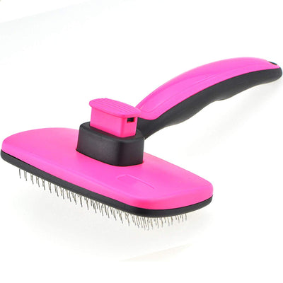 Self-Clean Slicker Grooming Brush for Small Medium Dogs and Cats