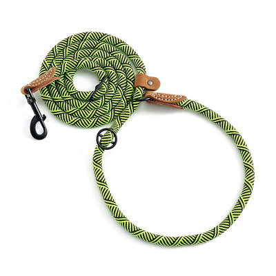 Hands Free Leather Tailor Handle Mountain Climbing Dog Rope 6FT Leash