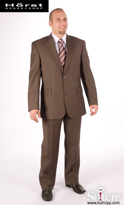 Horst Dusseldorf - Brown Pinstripe - Two Piece Suit