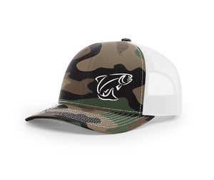 Brook or Rainbow Trout Outline Swamp Cracker Snapback Hat
