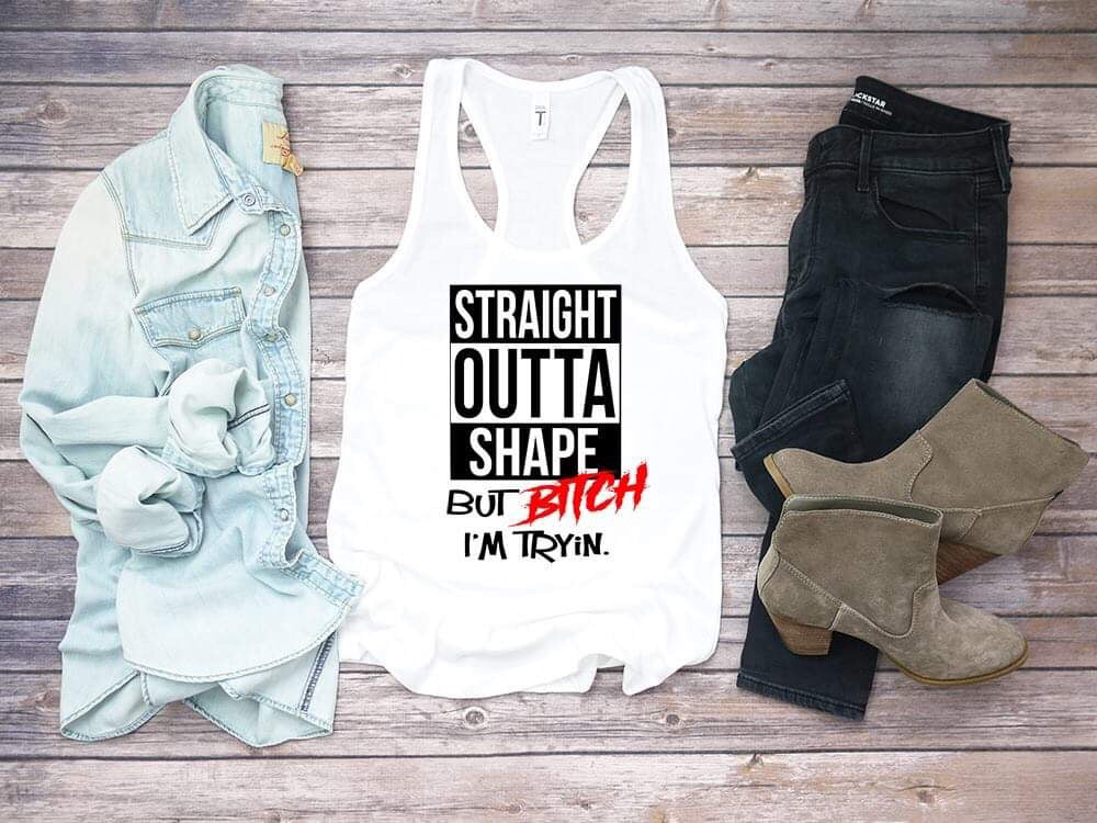 Straight Outta Shape Workout Tank